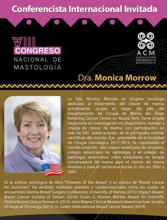 Conferencista invitada VIII Congreso Nacional de Mastología - Formula Medica